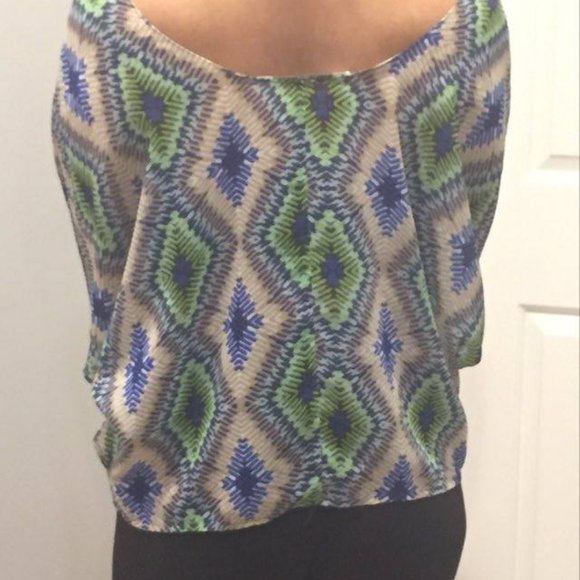 Collective Concepts Poncho Chevron Print Knit Tops Black or Red Various Size NWT
